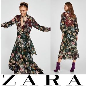 NWT ZARA Floral Maxi Dress